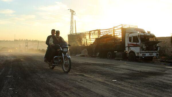 UN-Hilfskonvoi in Syrien angegriffen - Sputnik France