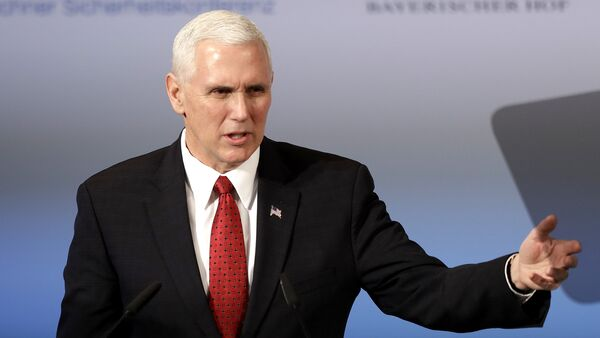 United States Vice President Mike Pence speaks during the Munich Security Conference in Munich, Germany - Sputnik France