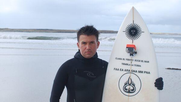 Ezequiel Martel se prepara para surfear en Malvinas - Sputnik France