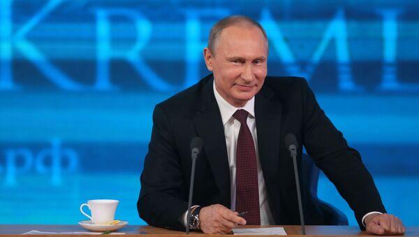 Большая пресс-конференция Владимира Путина - Sputnik France
