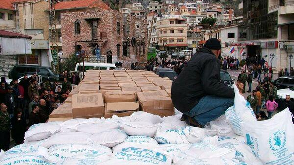 Aide humanitaire russe en Syrie - Sputnik France