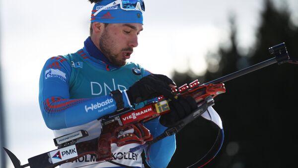 Anton Shipulin lors de la poursuite 12,5 km à Oslo - Sputnik France