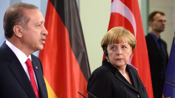 Recep Tayyip Erdogan et Angela Merkel - Sputnik France