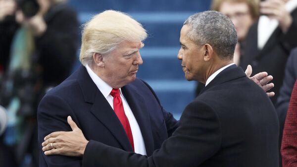 Donald Trump et Barack Obama - Sputnik France