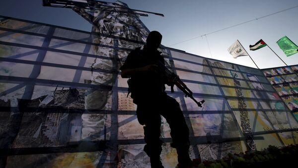 Un combattant du Hamas dans la bande de Gaza (image d'illustration) - Sputnik France