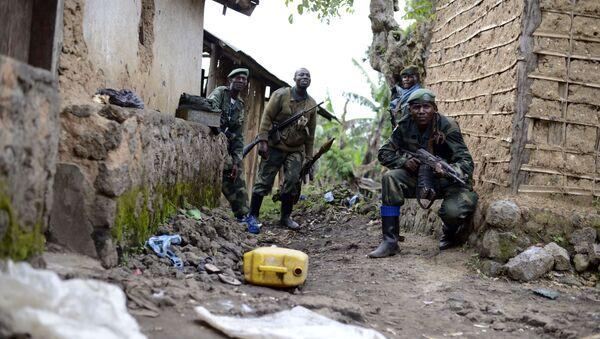 Les soldats de l'armée congolaise s'emparent d'une attaque contre Jomba rebelle, alors qu'ils avancent vers Bunagana, à l'est du Congo - Sputnik France
