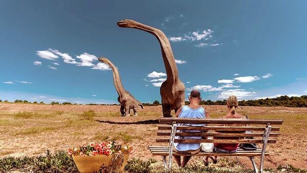 La plus grande empreinte de dinosaure découverte dans le Jurassic Park australien - Sputnik France