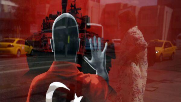 Плакат на полощади в Стамбуле - Sputnik France