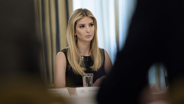 Ivanka Trump listens at the beginning of a policy and strategy forum with executives in the State Dining Room of the White House in Washington, DC. (File) - Sputnik France