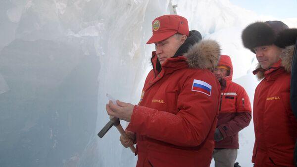 Visite du président Vladimir Poutine sur l'archipel François-Joseph - Sputnik France