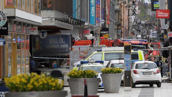 People were killed when a truck crashed into department store Ahlens on Drottninggatan, in central Stockholm, Sweden April 7, 2017. - Sputnik France
