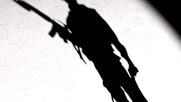 A silhouette of a man with a gun - Sputnik France