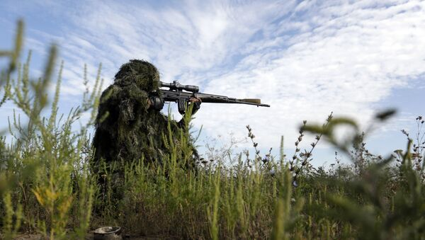 un sniper en Ukraine - Sputnik France