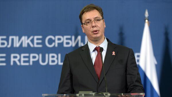 Premier ministre et Président élu serbe Aleksandar Vucic - Sputnik France