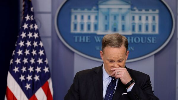 White House Press Secretary Sean Spicer holds the daily press briefing at the White House in Washington, U.S., March 23, 2017. - Sputnik France