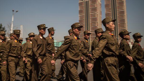 Церемония открытия нового жилого комплекса на улице Рёмён в Пхеньяне - Sputnik France