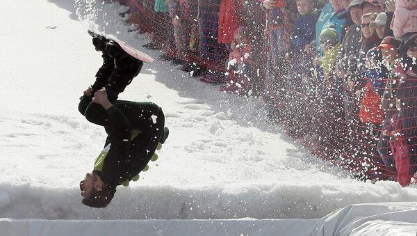 Le Festival « Skieur sur flaque 2017 » à Krasnoïarsk - Sputnik France