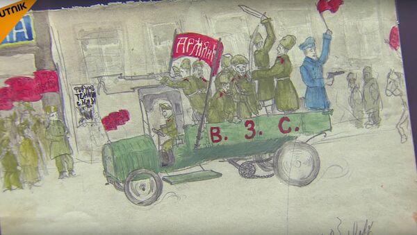 L'exposition de dessins d'enfants  Je dessine la révolution  - Sputnik France