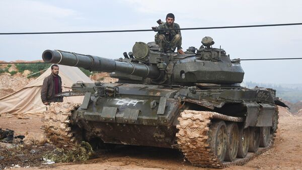 Syrian army troops during an assault on the city of Halfaya in the north of the Hama Governorate - Sputnik France