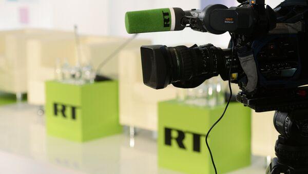 Logos de RT - Sputnik France