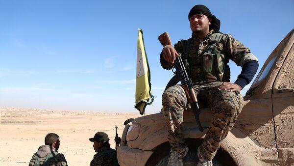 Un combattant des Forces démocratiques syrienes près de Raqqa - Sputnik France