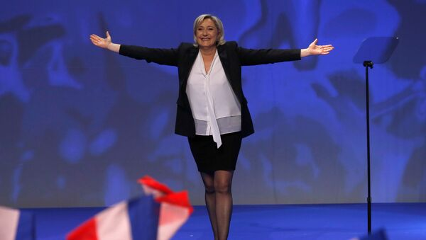 Marine Le Pen, French National Front (FN) political party leader and candidate for French 2017 presidential election, attends a political rally in Saint-Herblain near Nantes, France, February 26, 2017. - Sputnik France