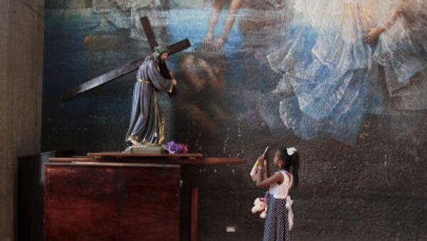 La statue de Jésus dans une cathédrale de Managua - Sputnik France