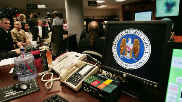 A computer workstation bears the National Security Agency (NSA) logo inside the Threat Operations Center inside the Washington suburb of Fort Meade, Maryland - Sputnik France
