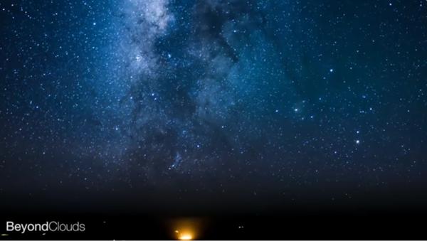 Un vol accéléré: la Voie Lactée et les continents illuminés - Sputnik France