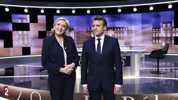 Emmanuel Macron et Marine Le Pen - Sputnik France