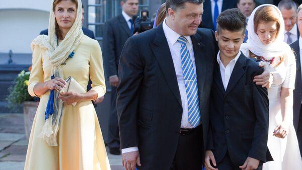 Piotr Porochenko et son fils cadet Mikhaïl - Sputnik France