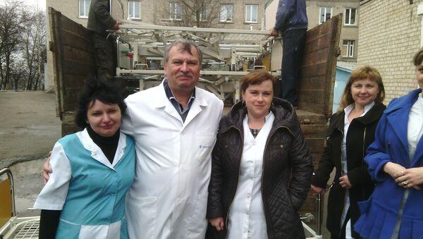 L'ONG Zukunft Donbass à Lougnsk - Sputnik France