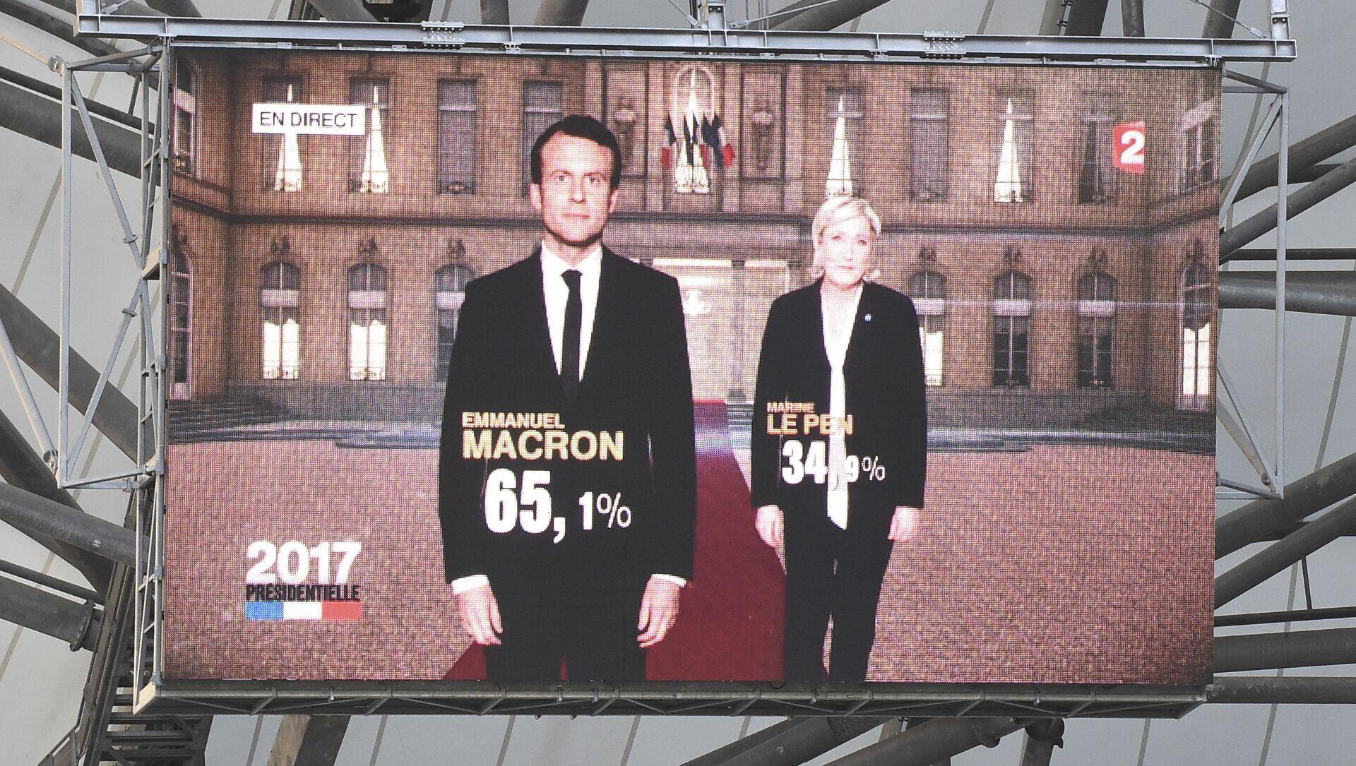 Macron et Le Pen - Sputnik France, 1920, 17.09.2021