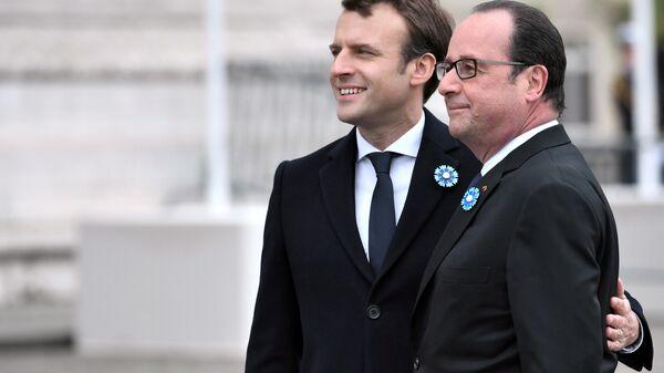 Frankreichs Präsident François Hollande und sein Nachfolger Emmanuel Macron - Sputnik France