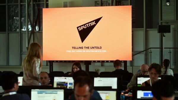 Journalists in the media center - Sputnik France
