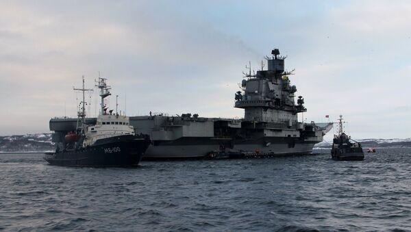 Торжественная встреча авианесущего крейсера Адмирал Кузнецов в Североморске - Sputnik France