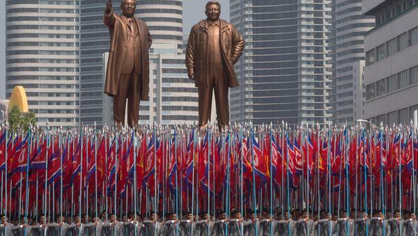 Feierlichkeiten in Nordkorea anlässlich des 105. Geburtstages von Staatsgründer Kim Il-sung - Sputnik France
