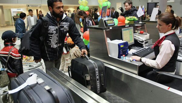 The check-in counter at the Sheremetyevo International Airport - Sputnik France