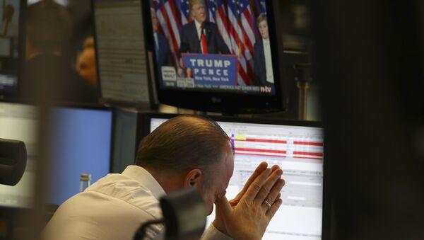Un trader à la bourse de Francfort en Allemagne - Sputnik France