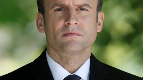 French President-elect Emmanuel Macron attends a ceremony at the Luxembourg Gardens to mark the abolition of slavery and to pay tribute to the victims of the slave trade, in Paris, France, May 10, 2017. - Sputnik France