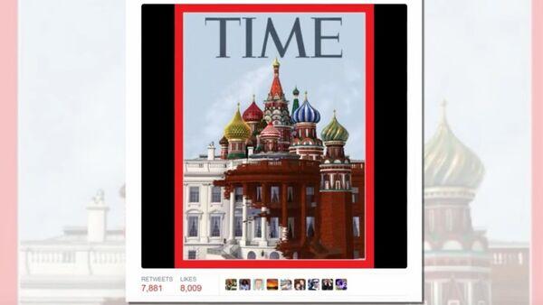 Time cover shows White House transforming into Kremlin - Sputnik France