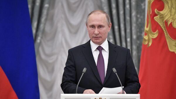 Церемония вручения государственных наград президентом РФ В. Путиным в Кремле - Sputnik France