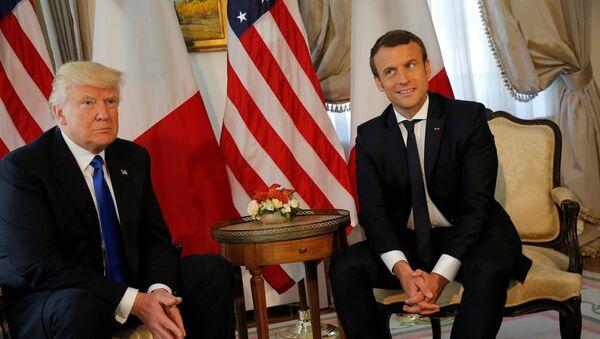 Donald Trump et Emmanuel Macron - Sputnik France