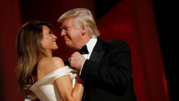 U.S. President Donald Trump and first lady Melania Trump attend the Liberty Ball in honor of his inauguration in Washington, U.S. January 20, 2017 - Sputnik France