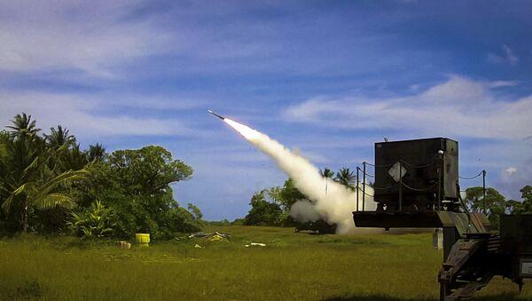 Un intercepteur Patriot Advanced Capability 3 (PAC-3) est lancé depuis Omelek Island lors du test de vol intégré historique du MDA le 24 octobre 2012 - Sputnik France