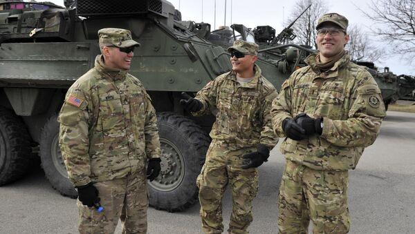 Des militaires américains en Lettonie - Sputnik France