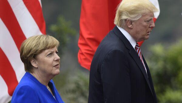 Donald Trump et Angela Merkel - Sputnik France