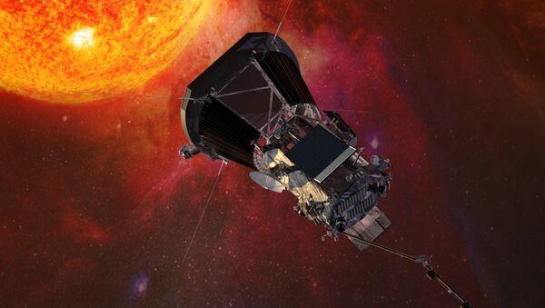 Illustration of the Parker Solar Probe spacecraft approaching the sun - Sputnik France