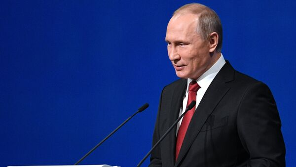 President Vladimir Putin speaks at the plenary meeting at the ExpoForum exhibition center as part at the of the 2017 St. Petersburg International Economic Forum - Sputnik France