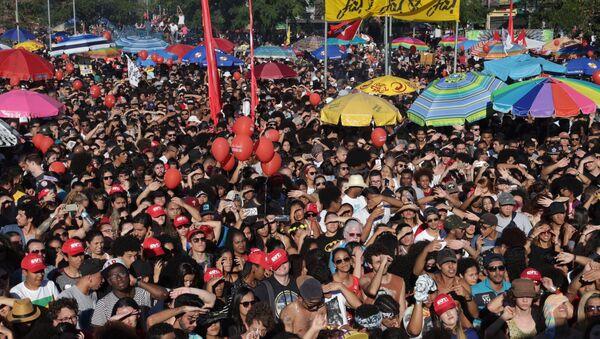 Manifestants au Brésil - Sputnik France